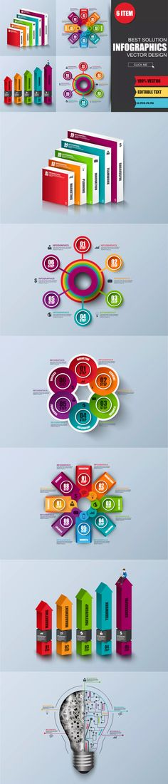Abstract 3D Digital Business Infographics Template AI, EPS, PNG
