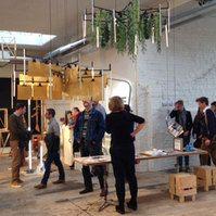 KrOOn Office op de Interieur Biennale in Kortrijk okt.2014.  Locatie Budafabriek. Curated by Ventura Projects