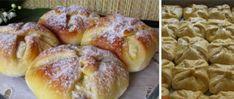 Batůžky s tvarohovou náplní Doughnut, Hamburger, Bread, Cookies, Food, Cook, Recipes, Crack Crackers, Brot