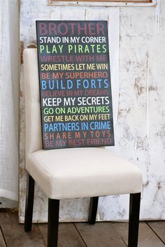 Brothers poem  boys room signs brother signs por DesignsOnSigns3
