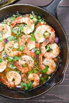 Bahama Breeze Skillet Simmered Jerk Shrimp | Inspiration Kitchen