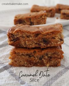 Caramel Date Slice Recipe