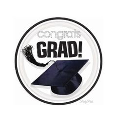 These Congrats Grad! plates are the ultimate graduation party decorations. 18 sturdy, 7 inch paper plates have a white background with black grad cap in the center. There is a flowing black tassel to the left. The white plate is elegantly outlined by a bold black line. Great for a black and white color scheme, or perfectly neutral for any color scheme.  ** 18 eco friendly paper plates per order (large pack)  ** 7 inch plates are the perfect size for snacks, cake, cupcakes  Please be sure to…