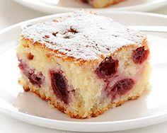 Cherry Coffee Cake - wonderfully moist, with subtle lemon flavor, sweet yogurt sponge and tart cherries
