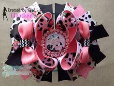 Fun cow hair bow!!  https://www.facebook.com/bowmakindiva/photos/a.875801882459056.1073741881.664051576967422/875809905791587/?type=3&theater