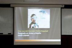 Conferencia de la Dra. Luz del Carmen Vilchis Esquivel, sobre Peculiaridades del diseño gráfico en la educación mediada por la tecnología digital, en las instalaciones del CCADET, el 22 de abril de 2013.