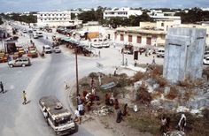 A view of the K-4 Circle, outside of the Bangladesh Army compound in Mogadishu.