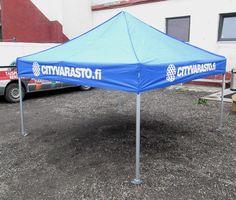3x3m popup telk logoga: Cityvarasto- http://stereomeedia.com/popup-telgid/3x3m-pop-up-telk/