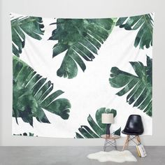 Buy Banana Leaf Watercolor Pattern Wall Tapestry by Worldwide shipping available at Just one of millions of high quality products available Tapestry Bedroom, Wall Tapestry, My New Room, My Room, College Room, Dorm Room, Bedroom Decor, Wall Decor, Bedroom Ideas