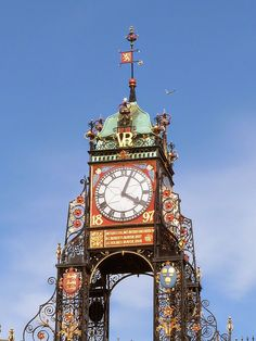 Sistema Solar, Outdoor Clock, Time And Tide, Cool Clocks, Victorian Architecture, Street Lamp, Telling Time, Chester, Great Britain
