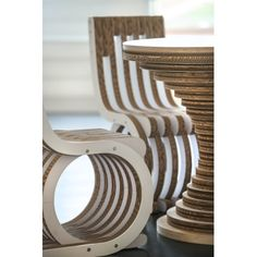 Cardboard Dining Chair, Detail of Twist Chair by Caporaso, Practical under seat compartment for bags, Restaurant Chair.