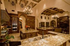 Oooo I love this kitchen... This would actually inspire me to cook lol I would never leave this room!