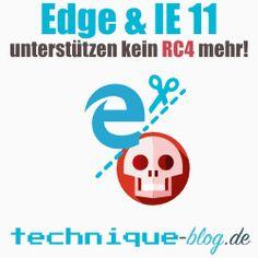 Microsoft Edge und Internet Explorer 11 unterstützen kein rc4 mehr