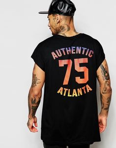 ASOS+Oversized+Sleeveless+T-Shirt+With+Number+Mesh+Effect+Print