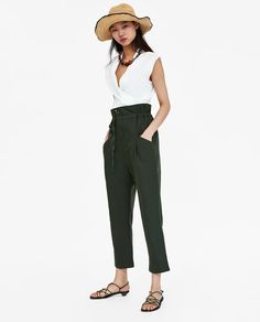 ZARA - WOMAN - LINEN TROUSERS WITH DRAWSTRING
