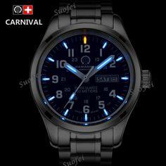 Discount Today $79.19, Buy New Double calendar Date T25 Tritium Luminous Quartz military watch waterproof 200M Sport Brand Watches Mens full steel relojes