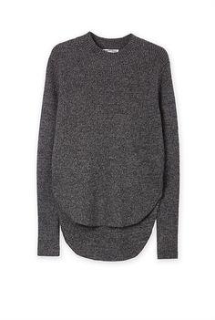 $129 Curved Hem Pullover