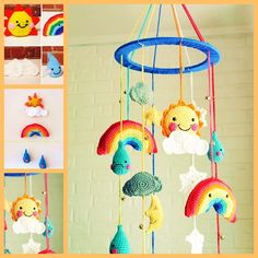 The Perfect DIY Crochet Baby Rainy day Mobile
