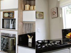Minha cozinha repaginada e o adesivo na porta da lavanderia