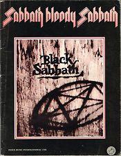 BLACK SABBATH - SABBATH BLOODY SABBATH SONG BOOK RARE SHEET MUSIC SONGBOOK 1974