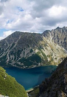 Black pond - Tatry Mountains. Poland Beautiful Places In The World, Oh The Places You'll Go, Places To Travel, Places To Visit, Tatra Mountains, Carpathian Mountains, Polish Mountains, Visit Poland, Poland Travel