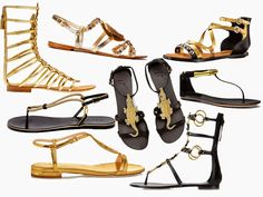 The Charm of Luxury: Flat Sandals P/E 2015. MOOD GOLD