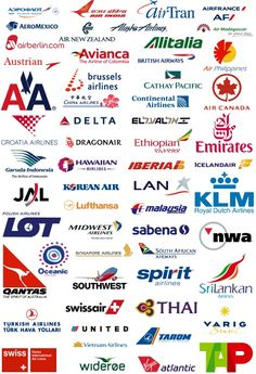 Airline logos - look out for the airlines guide for families coming soon to the blog  | Travel Advice | BabyGlobetrotters.Net