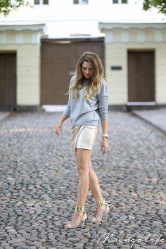 gold + gray