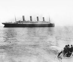 The Titanic leaving Queenstown (Cobh), County Cork, Ireland - it's last port of call before sinking 3 days later.