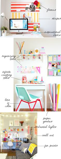 work and crafting spaces for the home