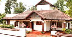 New raised concrete patio house Ideas Indian Home Design, Kerala House Design, Kerala Traditional House, Traditional House Plans, Village House Design, Village Houses, Diy Patio, Backyard Patio, Style At Home