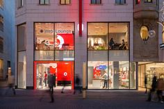 Vodafone flagship store by KMS BLACKSPACE, Cologne store design