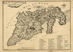 De Fer Nicolas edit. & Starck-man P. inc. Martinica - Caraibi - 1705