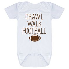 Personalized Baby One-Piece For Future Football Player - Crawl Walk Football Baby Football Outfit, Football Football, Color Names Baby, Baby Names, One Piece Shirt, Sport Design, Personalized Baby, Infant, Walking