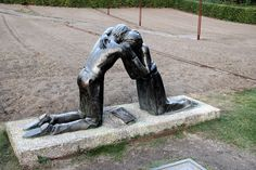 https://flic.kr/p/Rfprr2   Sculpture outside the Chapel of Reconciliation