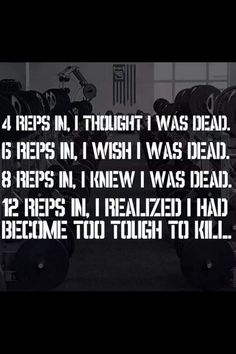 Be Tough To Kill!  Inspirational quotes for women and girls who love the gym, fitness and working out