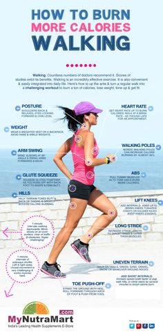 Tone and Firm Your Booty and Other Benefits Just by Walking | How to Burn More calories walking Infographic
