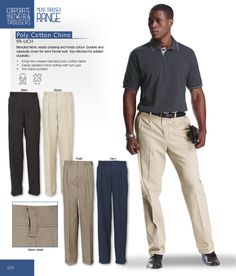 Poly Cotton Chino | Trousers | BARRON WEAR CORPORATE STYLES