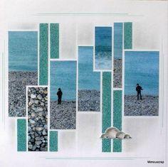 Etretat - Alexis sur la plage - Le scrap européen de Mimouscrap