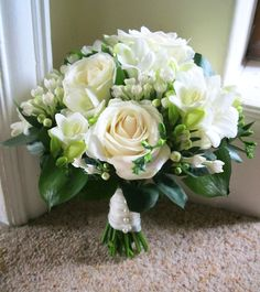green and white bouquet - Google Search