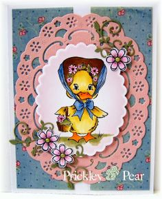 #pprstamps Welcome To Prickley Pear Design Team Monday! Stamps used: FF0057 - Bonnie; CLR012A - Flowers 2; D012 - Flowers Die http://www.prickleypear.com
