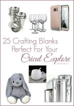Are you looking for unique and creative crafting blanks for your Cricut Explore projects? Here are some of our favorites! What would you add to the list? #affiliate #cricut #designnspace #craftingblanks