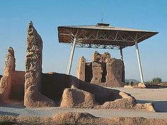 Casa Grande Ruins, Coolidge, AZ....multiple structures by ancient people of the Hohokams.