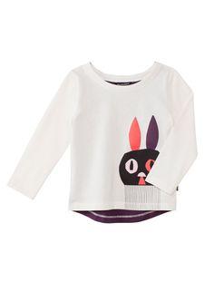 Jänö 1-paita (valkoinen, ruskea, oranssi) |Vaatteet, Lapset, Vauvat | Marimekko