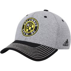 brand new 807f2 972bc Men s Columbus Crew SC adidas Gray Black Two Tone Structured Adjustable Hat,  Your Price