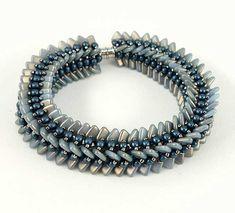 Paradox bracelet by Nichole Starman - a form of tubular netting