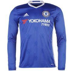 Camiseta Nueva del Chelsea Home 2017 Manga Larga