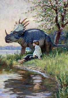 "I had this book when I was a kid. I loved it. James Gurney ""Dinotopia"""