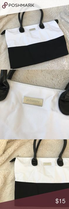 Philosophy Bag! Brand new! Brand new never used! Perfect for travel. Ask all questions prior to purchase •  bundle to save •  willing to consider any reasonable offer  <3 Philosophy Bags Travel Bags