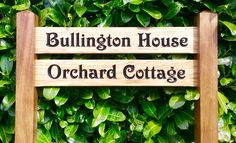 Multi Rung Ladder Sign 720 x - Posts 70 x 70 x Entrance Sign, Bramble, Name Signs, Solid Oak, Ladder, Posts, Wood, Outdoor Decor, Design